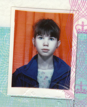 Passport photo of me at 14 years lod