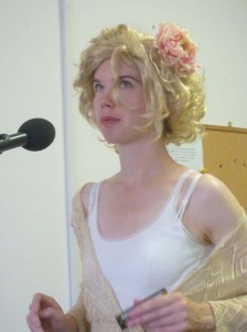 Miss Roberts singing on the radio