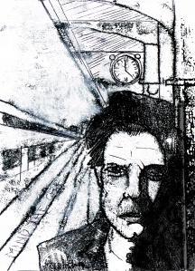 Abel, monoprint and pen